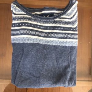 Small blue and white sweater, like new